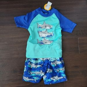 Boys Shark Swim Suit Set 🏊♂️💦🦈